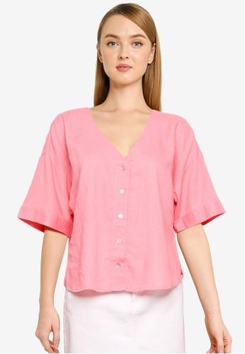 Vero Moda pink Short Sleeved Shirt 7659DAAFFF793AGS_1