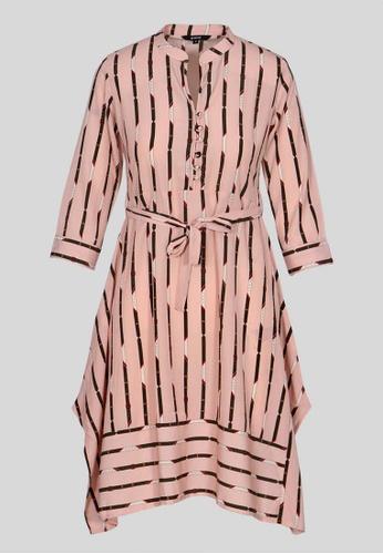 Le Reve pink Le Reve Pink Stripe Tunic Dress 2EA0BAAD04AEFAGS_1