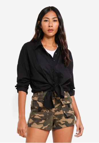 Factorie black Oversized Shirt D3F03AACF167D5GS_1
