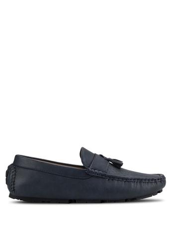 UniqTee blue Faux Leather Slip-On Tassel Loafers UN097SH19ILSMY_1