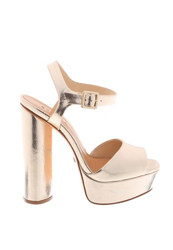 Schutz 金色 SCHUTZ 厚底搭帶高跟涼鞋 - ELENA (金色) 68E91SHFD4830EGS_1