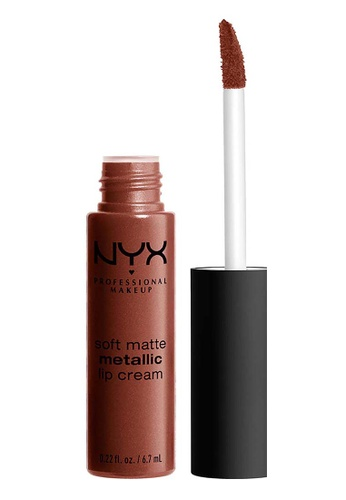NYX Professional Makeup brown NYX Professional MakeupSoft Matte Metallic Lip Cream - DUBAI 2CF6FBE56C5669GS_1