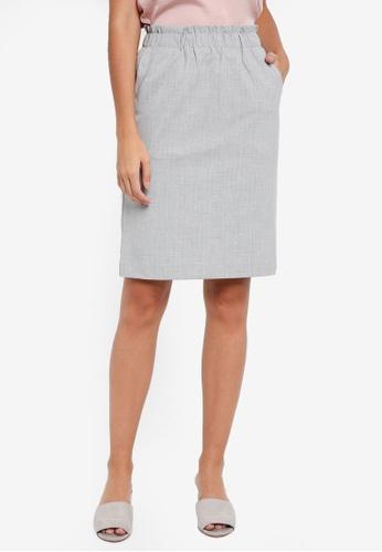 ICHI grey Edima Skirt C7ED6AA894C07AGS_1