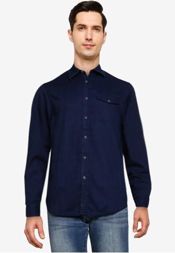 Electro Denim Lab blue Dobby Indigo Shirt F63EFAAB8E31A7GS_1