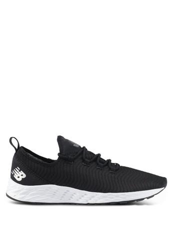 New Balance black and white ARIA Fresh Foam Fitenss Running Shoes NE323SH0SVCXMY_1