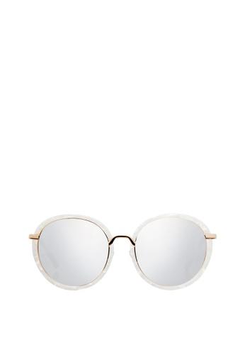 Carin white and multi and gold Elva C4 Sunglasses 6FE1DGL23E3986GS_1