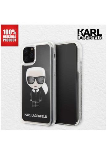 KARL LAGERFELD black Karl Lagerfeld - Iphone 11 Pro - Transparent Karl Glitter TPU Case 1F58FES9BFB3D7GS_1