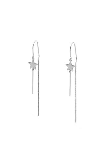 LYCKA silver LDR1317 S925 Silver Flying Stars Stud Earrings 02F67ACD137EA9GS_1