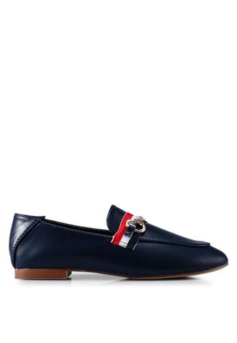 Nose 海軍藍色 金屬飾樂福鞋 BE883SH1D47ED6GS_1