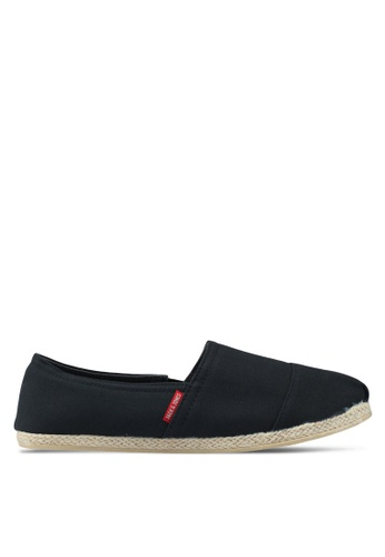 Jack & Jones black Espadrille Canvas Anthracite Slip Ons 9B5F5SH48A9548GS_1