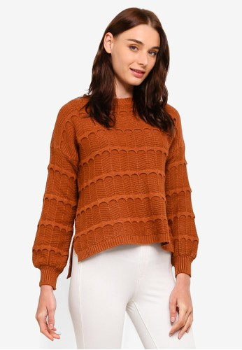 BYN brown Ribbed Knit Sweater DFA11AAC5CDEA4GS_1