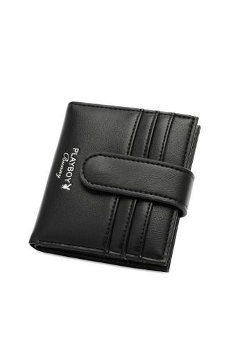PLAYBOY BUNNY black Women's Bi Fold Purse / Bi Fold Wallet E0468AC36E6120GS_1