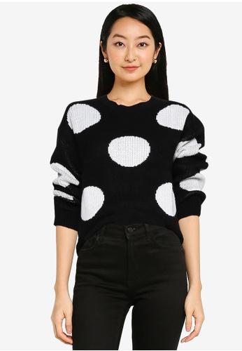 ZALORA BASICS multi Macro Dots Knit Sweater 66811AA9692032GS_1