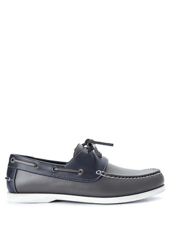 Brogue & Derby grey Delvan Boat Shoes BR611SH0IJBTPH_1
