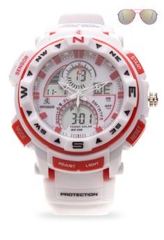 Chronograph Watch With Free Sunglasses JC-H1215-MW-01