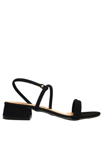Twenty Eight Shoes 黑色 兩種穿著方式的搭帶矮跟鞋 VS1297 9E7D6SH649BE79GS_1