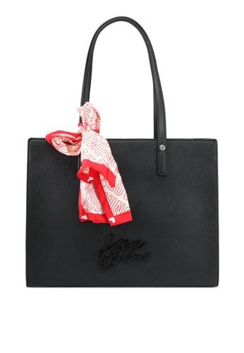 Love Moschino black Borsa Saffiano Shoulder Bag LO478AC0SEIMMY_1