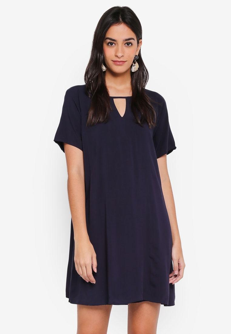 Lisa Dress Sky Sleeve Peep Short Night ONLY n66Z17gawq