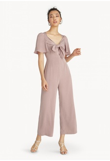 c499cd06add Front Bow Bell Sleeve Jumpsuit - Pink 8532FAAF71AD7DGS 1
