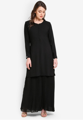 JubahSouq black Sumayya Dress JU399AA0RNS3MY_1