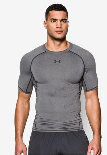Under Armour grey Men's UA HeatGear® Armour Short Sleeve Compression Shirt UN337AA57ALUMY_1