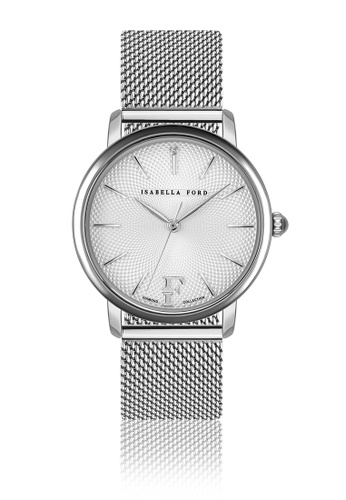 Isabella Ford white Isabella Ford Adore Silver Mesh Women Watch B32D1ACA530B96GS_1