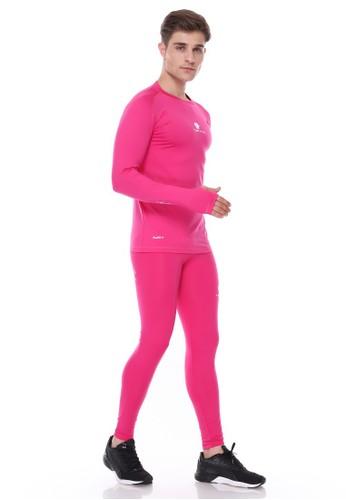 Jual Tiento Tiento Baju Olahraga Thumbhole Pink Dan Celana Legging Pria Pink 1 Set Original Zalora Indonesia
