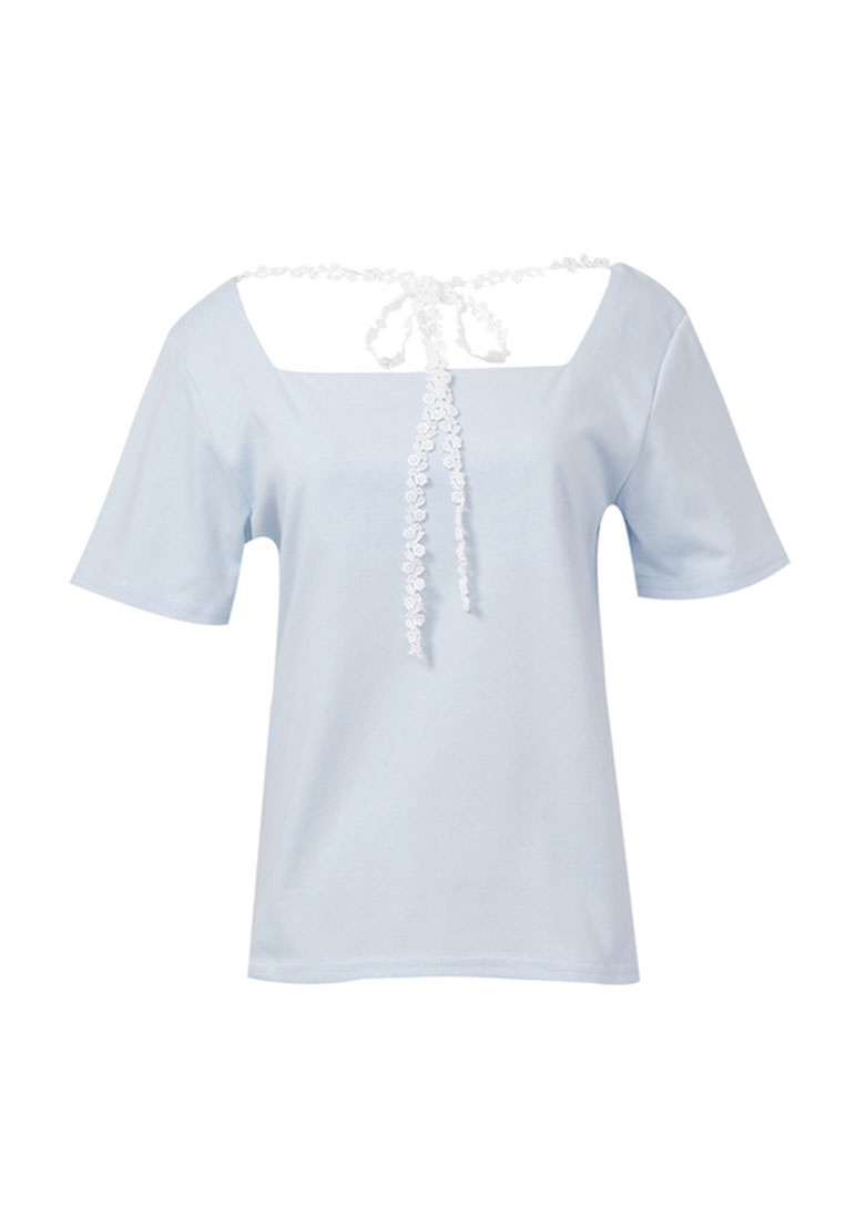 Blouse Tie Tokichoi Square with Blue Sky Neck Lace EwEXqcfvr