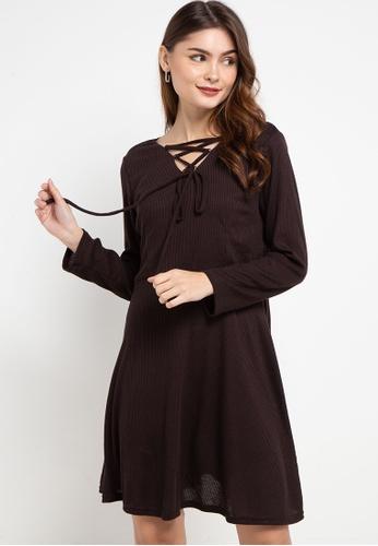 CHANIRA LA PAREZZA brown Chanira La Parezza Lola Fit & Flare Dress 8D3EFAA35D0389GS_1