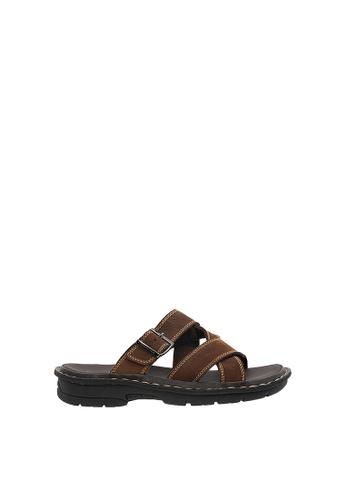 SEMBONIA brown SEMBONIA Men Leather Slipper (Dark Brown) SE598SH0SZ8AMY_1