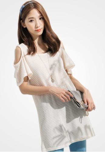 Sesura beige Cool Summers Knit Dress C35D7AA0C0A4A7GS_1