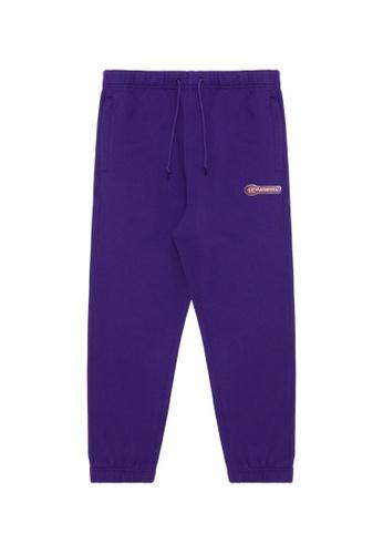 Fingercroxx purple Moniker badge sweatpants 35301AA9C3903AGS_1