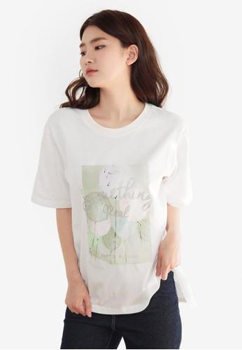 NAIN white Printed Tee 76E6CAA668815EGS_1