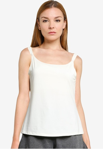 Impression white Nursing Camisole With Easy-To-Open Clasps & Inner Bust Support 2431EUS4EFAD53GS_1