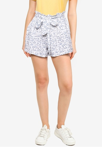 Hollister white Chain Soft Shorts 0F13AAAD542406GS_1