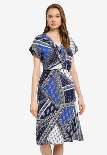 LC Waikiki blue Patterned Viscose Dress A35DEAA1619704GS_1