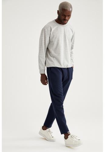 DeFacto navy Man Knitted Trouser 39FD2AADB3CB54GS_1