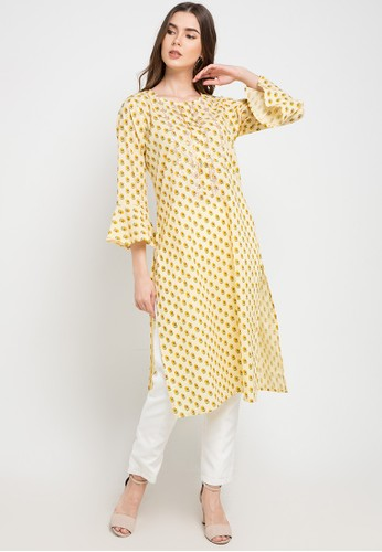 Chanira Festive Collection yellow Catie Tunic CB2A7AA256DD20GS_1
