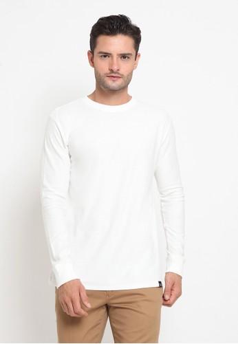 The Executive white Twill Textured Tee 0377EAA6D29B03GS_1