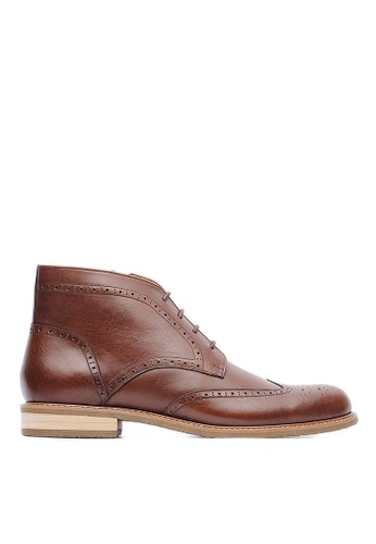 Life8 brown British style Leather Oxford Leather Boots-09696-Brown LI286SH0RWZYMY_1