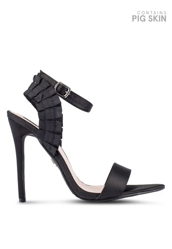 LOST INK black Betty Pleated Heeled Sandals LO238SH0RVIBMY_1