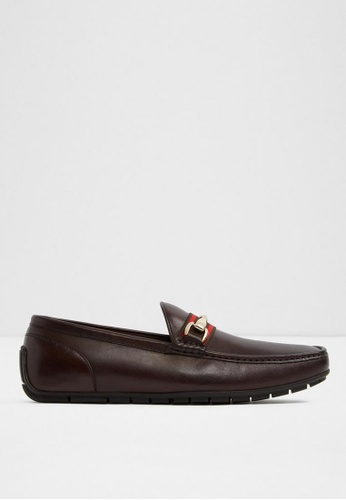 ALDO brown Omemee Loafers EBFA3SHA711814GS_1