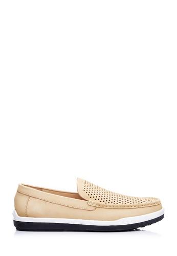 BONIA beige Men Beige Nubuck Slip-On Loafers B0155SH8F24883GS_1