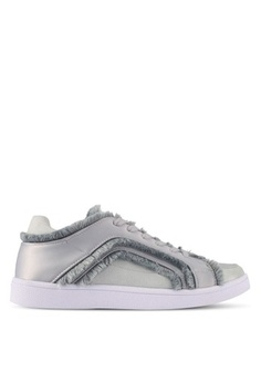 ae5efd166be3 ZALORA. Raw Edge Frills Lace-Up Sneakers