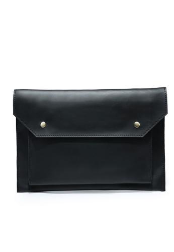 Lara black Men's Plain Hand Bag B0863ACF508606GS_1