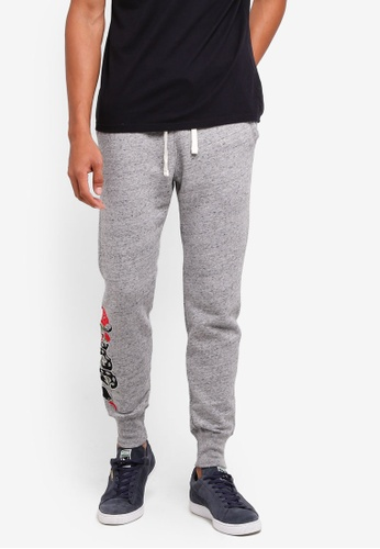 Hollister grey Super Skinny Embroidery Sweatpants C3A1EAA1FF66DDGS_1