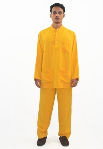 Denai Boutique yellow Baju Melayu Atta 04C6AAAA26491DGS_1