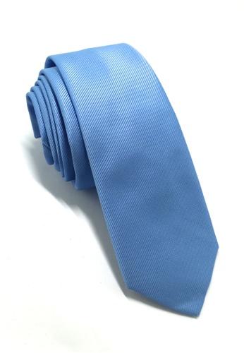 Splice Cufflinks Palpable Series Blue Polyester Fabric Tie SP744AC44QNZSG_1