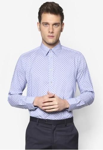 細緻斑點長袖襯衫, 服飾,esprit outlet 台灣 服飾