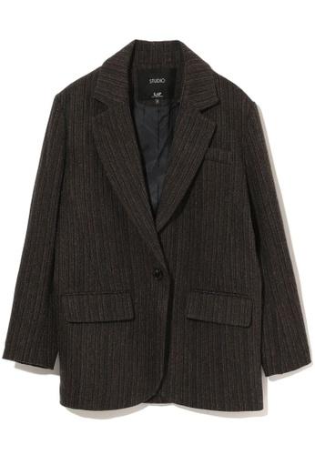 LOS ANGELES PROJECT -FASHION brown Tweed blazer. 92DACAAD83AF4FGS_1